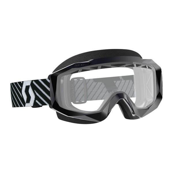 SCOTT HUSTLE X MX ENDURO BRILLE black/white / clear